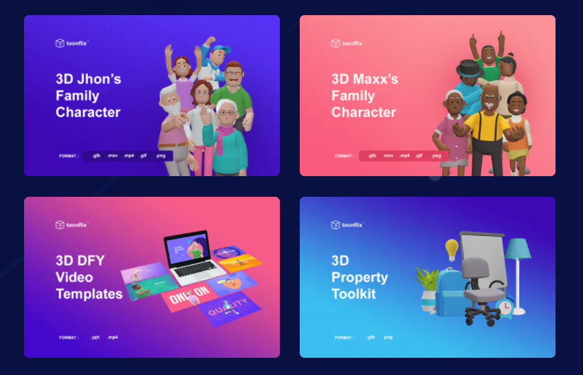 3D Toonflix Animation App & OTO Review by Arif Chandra