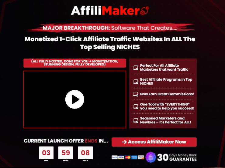 AffiliMaker Affiliate Software & OTO Review by Kurt Chrisler