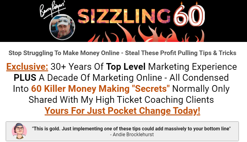 Barry's Sizzling 60 Guide Review & OTO by Barry Rodgers