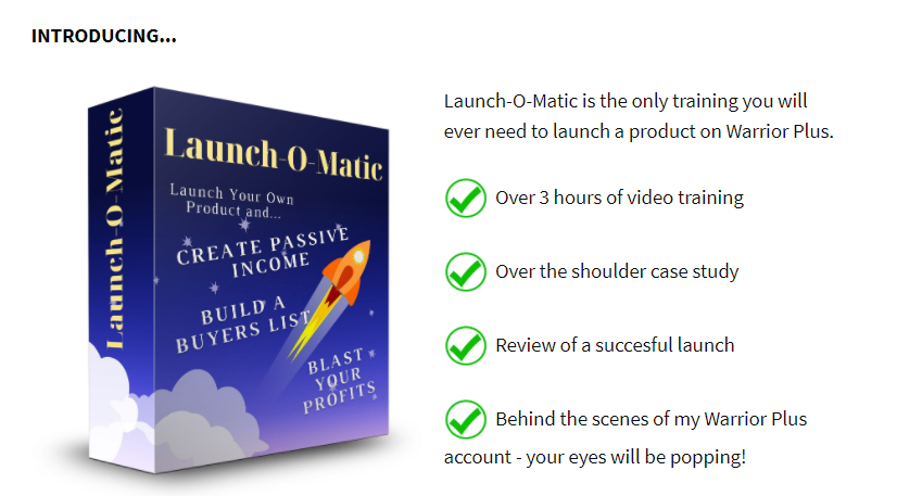 Launch-O-Matic System Review & OTO by Ken Bluttman