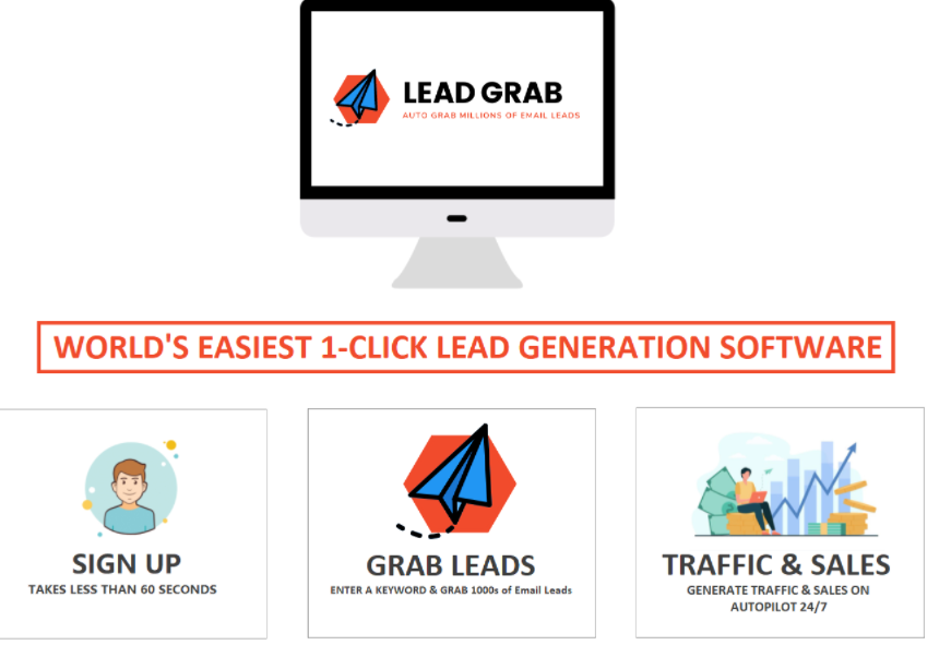LeadGrab Software Review & OTO by Titima West