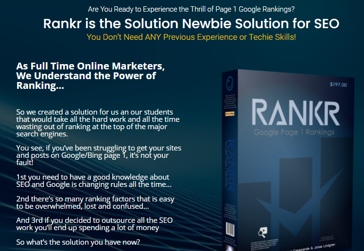 Rankr SEO Software Review & OTO by Trevor Carr