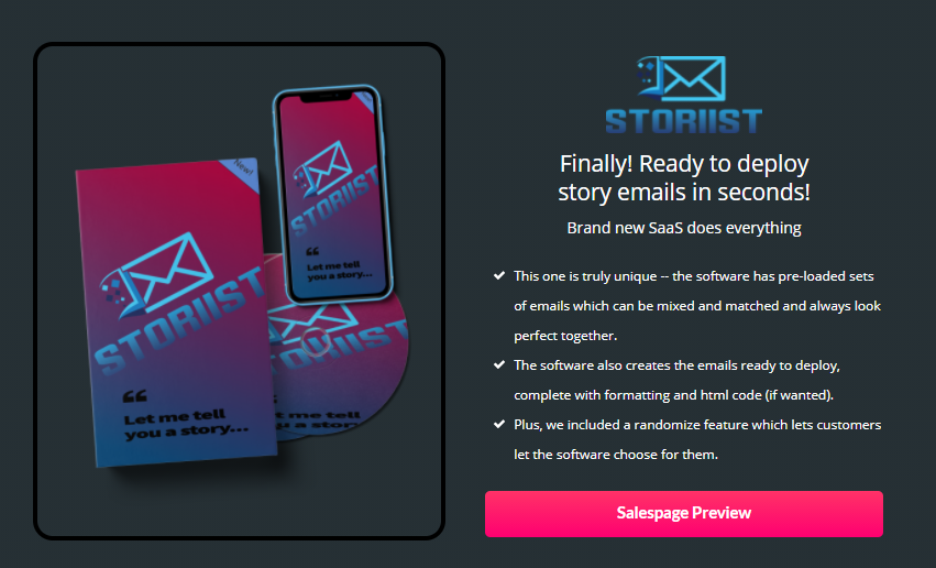 Storiist Software & OTO Review by Eric Hammer
