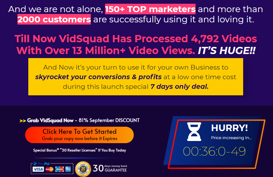 VidSquad Video Marketing Software & OTO Review by IMReviewSquad