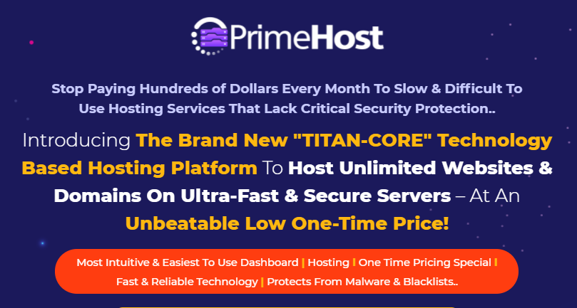 PrimeHost PRO Unlimited Hosting OTO & Review by Firas Alameh