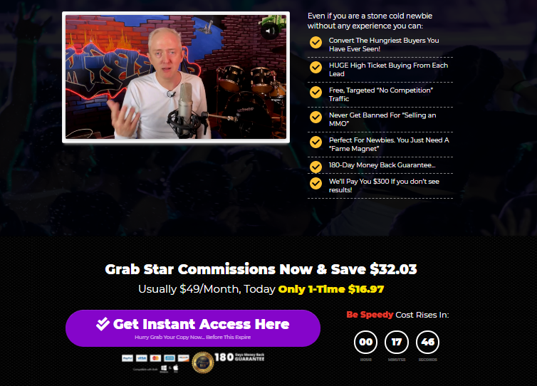 StarCommissions System OTO & Review by Jamie Lewis