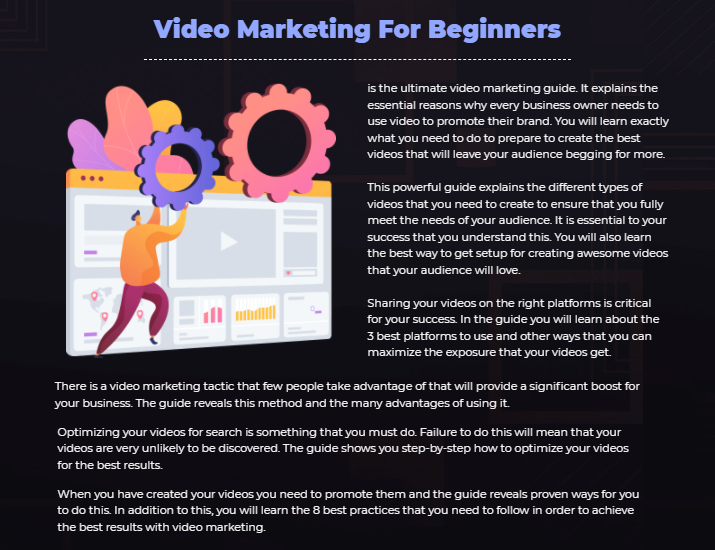 Video Marketing For Beginners PLR OTO & Review by Sajan Elanthor